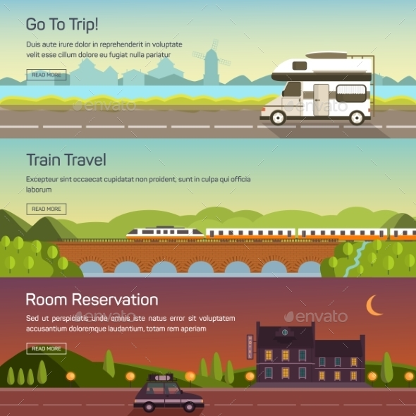 Vector Set Illustrations Of Travelling. - Travel Conceptual