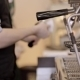 Barista Tamping The Grind Coffee For Espresso. Out - VideoHive Item for Sale