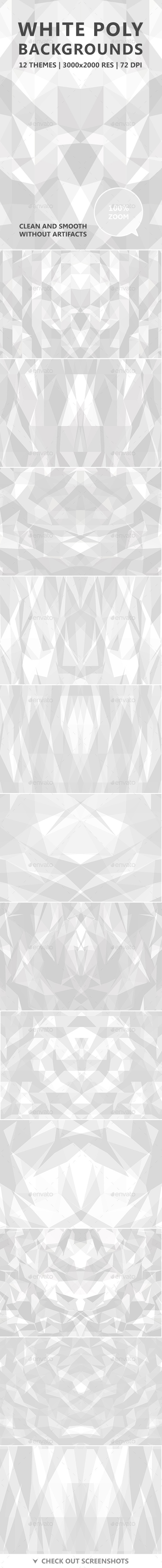 White Poly Backgrounds - Abstract Backgrounds