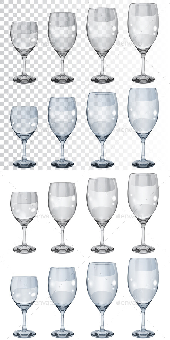 Empty Wineglasses - Man-made Objects Objects