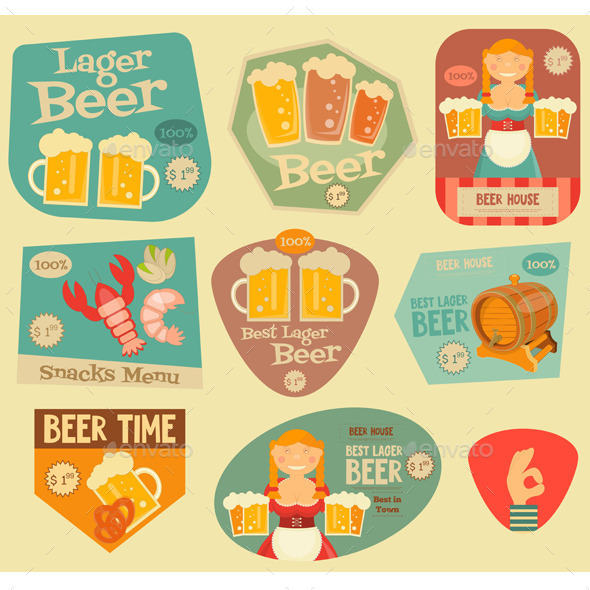Beer Stickers - Food Objects