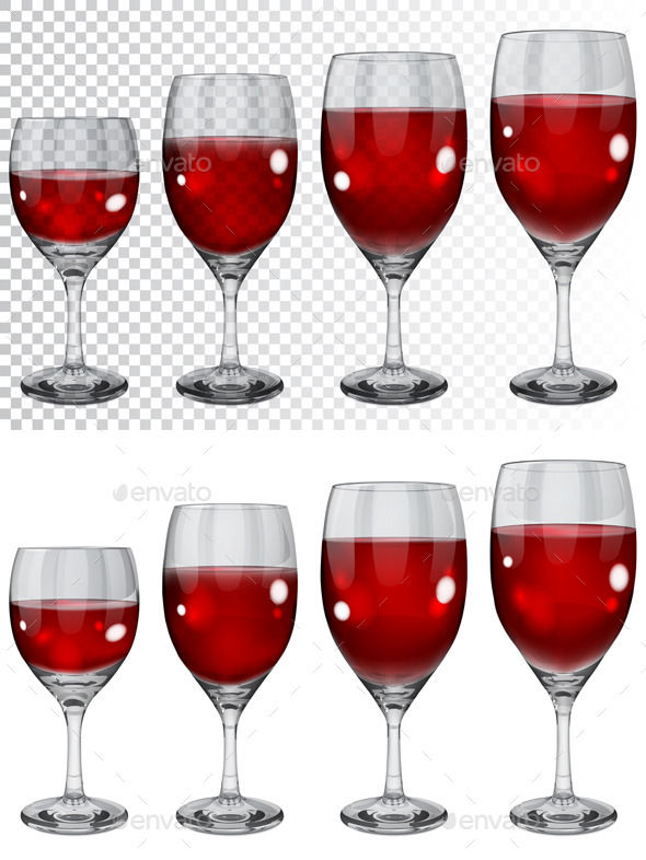 Wineglasses With Red Wine - Man-made Objects Objects