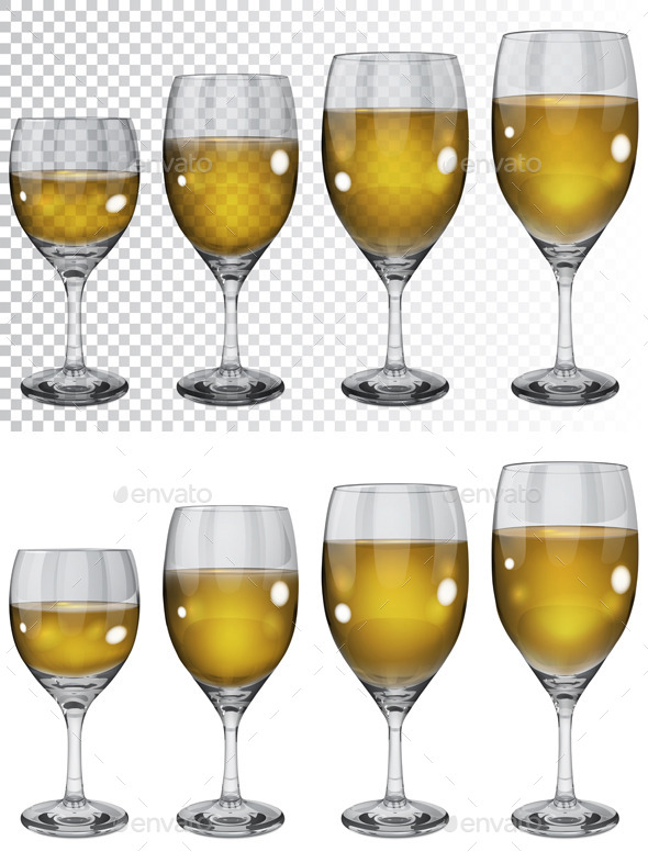Wineglasses With White Wine - Man-made Objects Objects