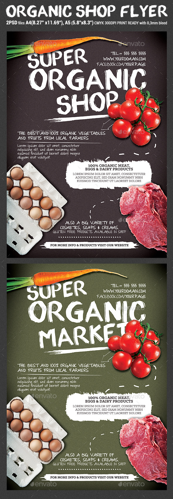 Organic Shop/Market Flyer Template by Hotpin | GraphicRiver