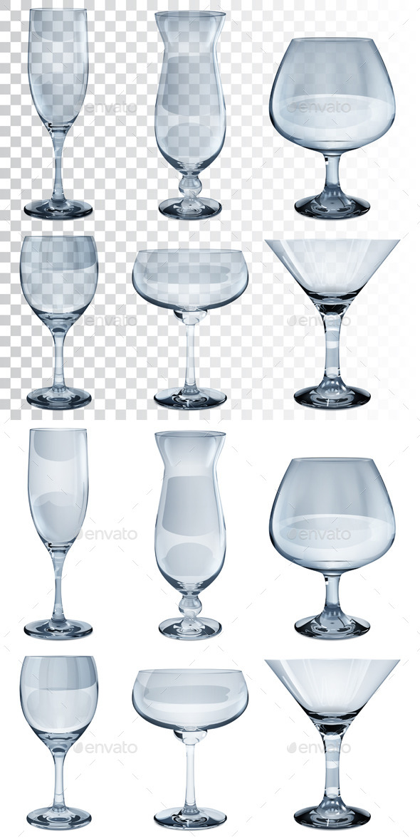 Empty Glass Goblets - Man-made Objects Objects
