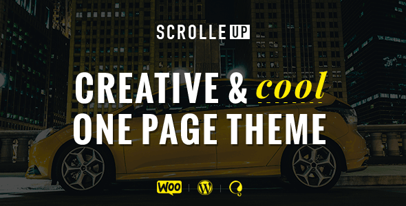 ScrolleUP – Creative One Page WordPress Theme