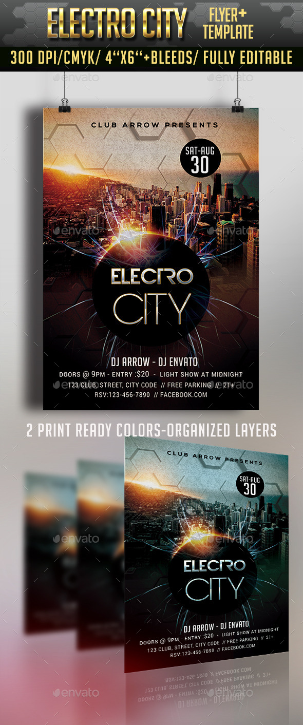 Electro City Flyer - Clubs & Parties Events