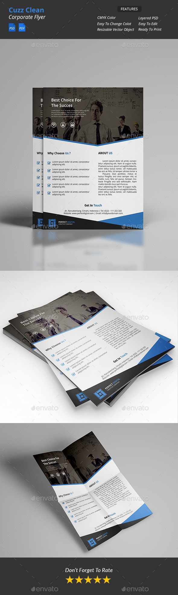Cuzz - Clean Corporate Flyer - Corporate Flyers