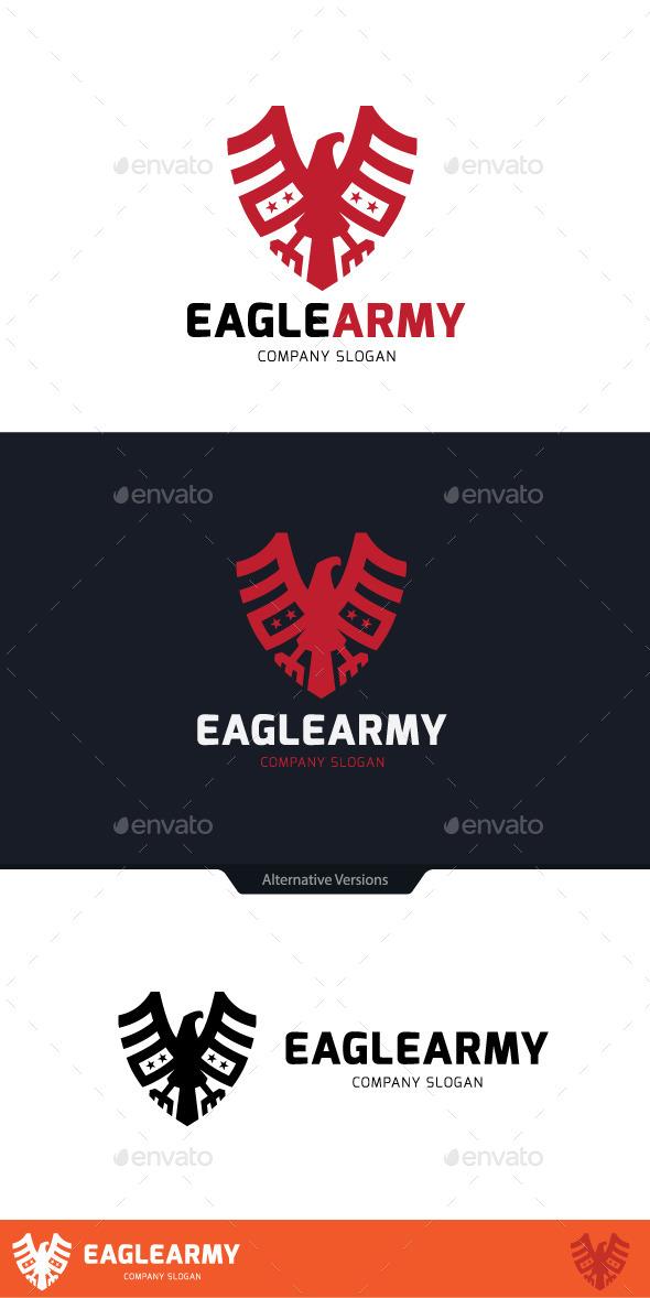 Eagle Army - Animals Logo Templates