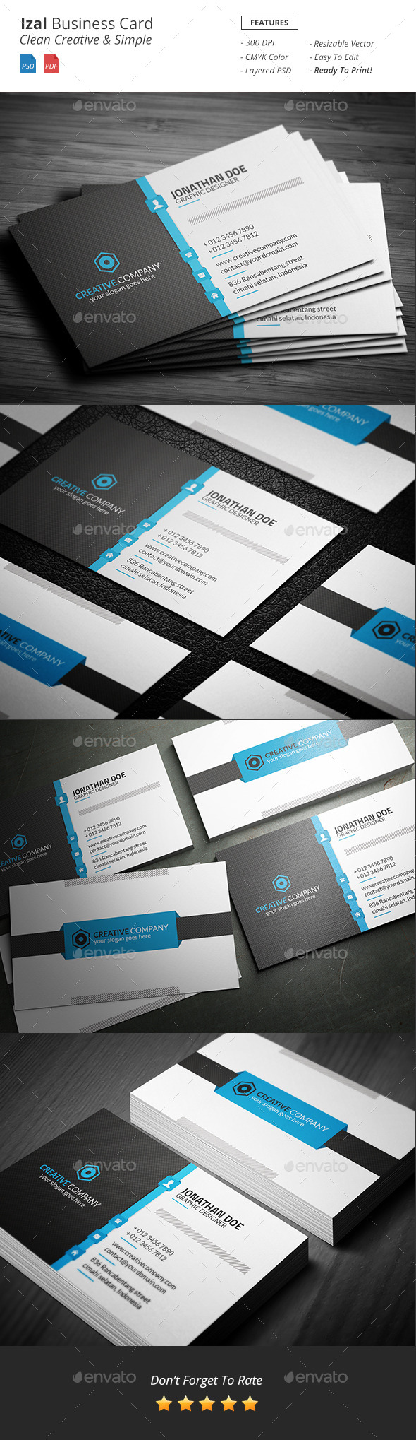 Izal - Clean Creative Business Card - Creative Business Cards