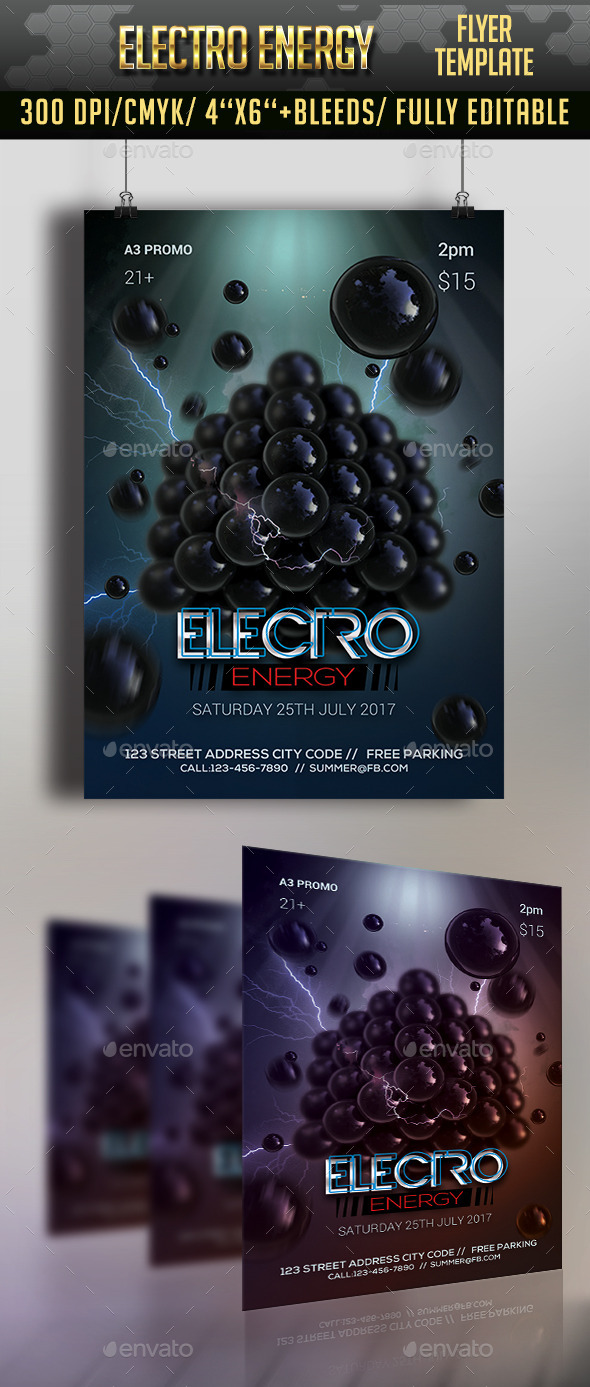 Electro Energy Flyer - Clubs & Parties Events