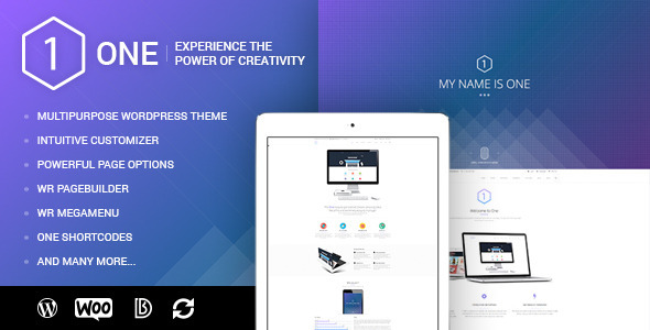 ONE - Multipurpose WordPress Theme for WooCommerce