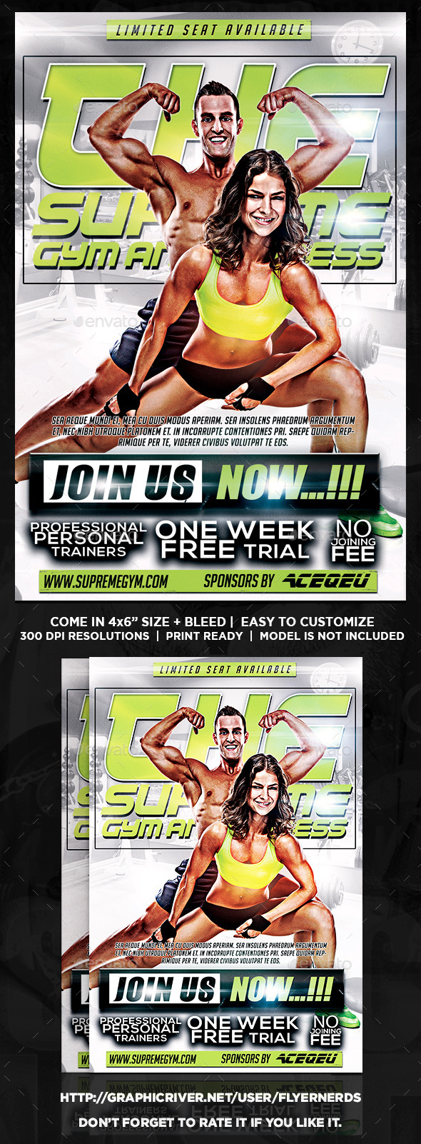 Fitness Center Sports Flyer - Sports Events