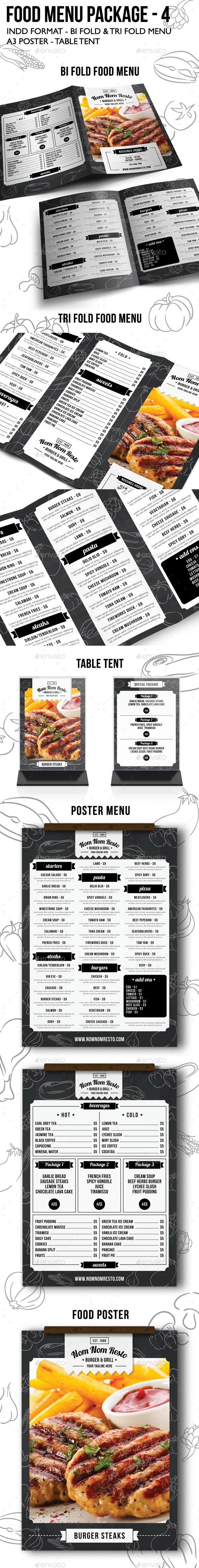 Food Menu Package 4 - Food Menus Print Templates