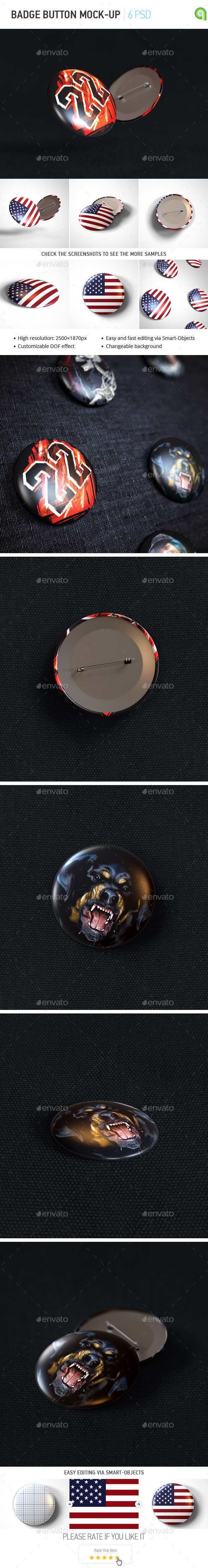 Badge Button Mockup - Miscellaneous Print