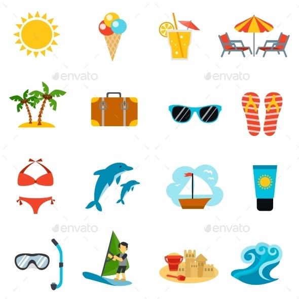 Summer Icons Set - Seasonal Icons