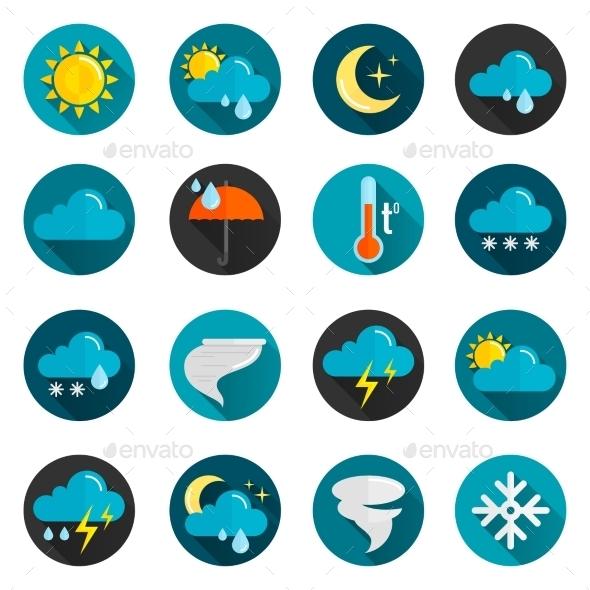 Weather Flat Icon Set - Miscellaneous Icons