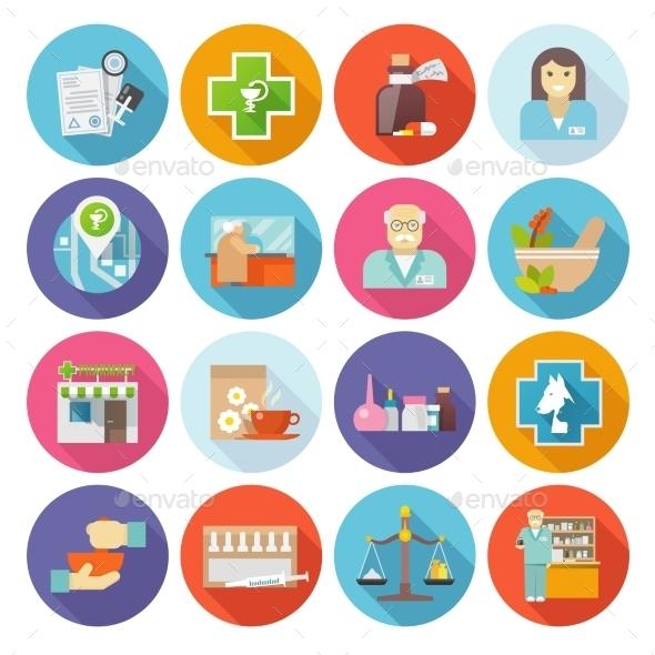 Pharmacist Icons Set - Miscellaneous Icons