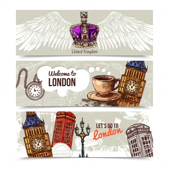 London Horizontal Banners - Travel Conceptual