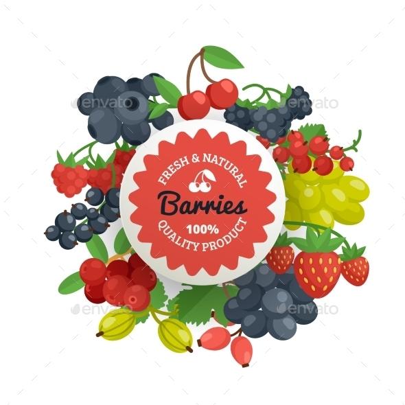 Berries Emblem - Food Objects