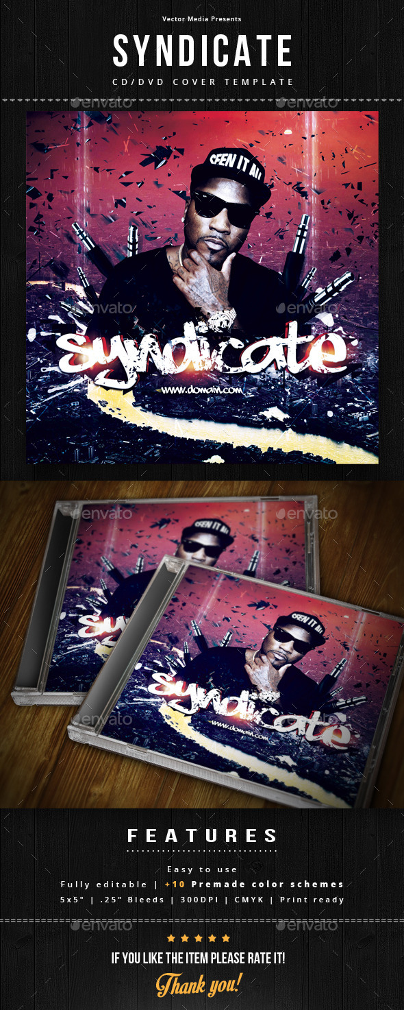 Syndicate - Cd Cover - CD & DVD Artwork Print Templates