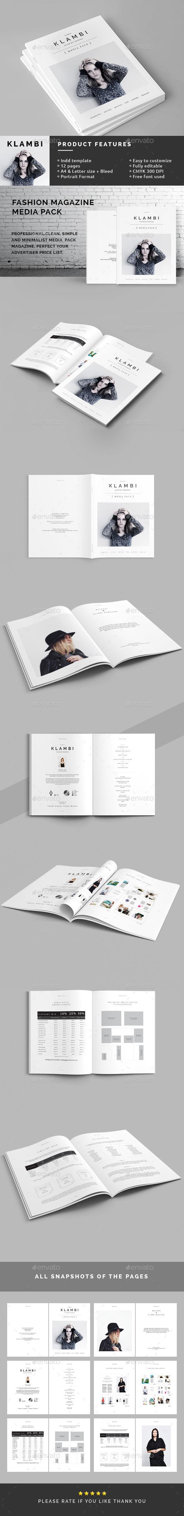 Fashion Magazine Media Pack - Magazines Print Templates