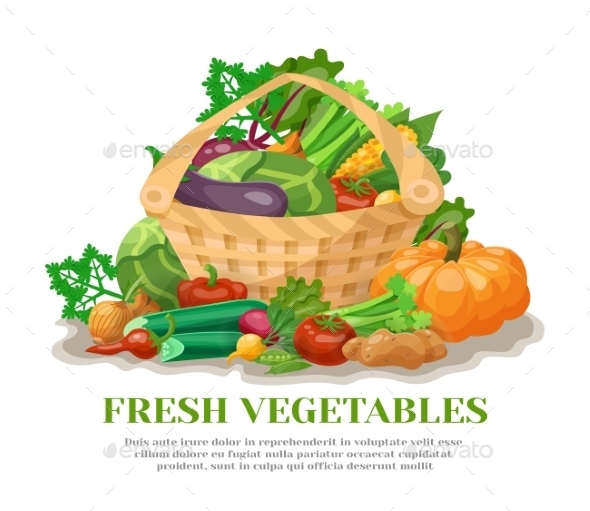 Vegetables Basket Still Life - Food Objects
