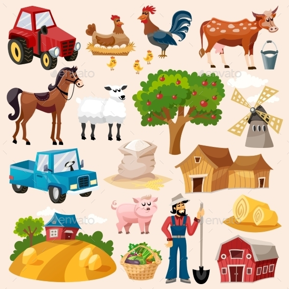 Farm Icon Set - Miscellaneous Vectors