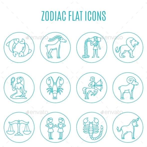 Zodiac Icon Line Set - Miscellaneous Icons