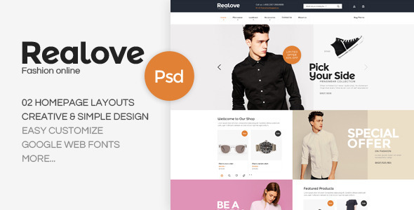 Realove - Fashion PSD Template