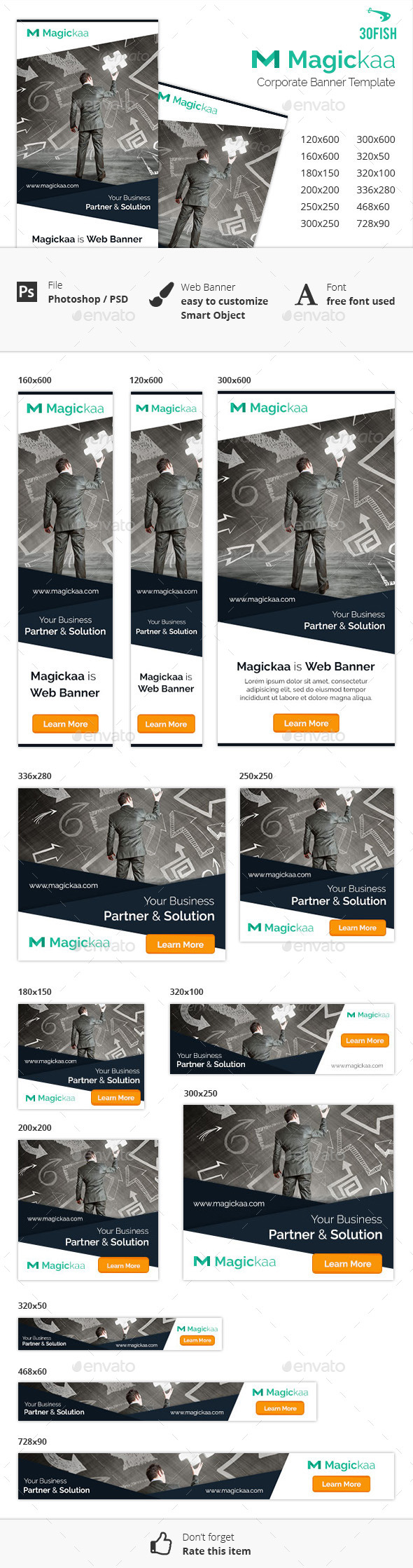 Magickaa Corporate Banner - Banners & Ads Web Elements