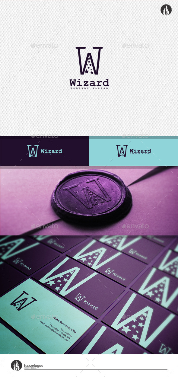 Wizard - Letter W Logo - Letters Logo Templates
