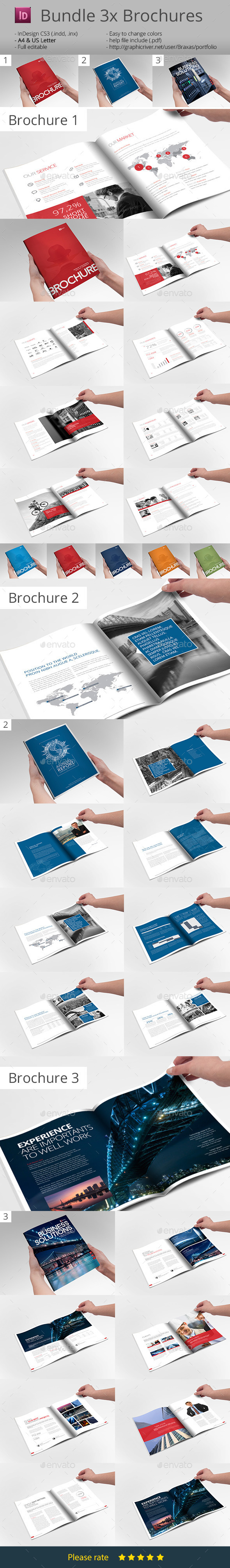Bundle 3x Business Brochures - Informational Brochures