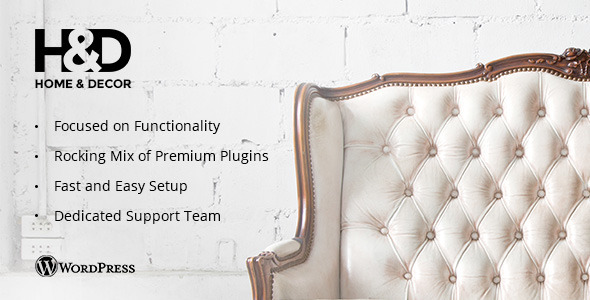 H&D - Interior Design WordPress Theme - Business Corporate