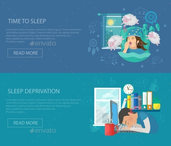 Sleep Time Banner - Miscellaneous Vectors