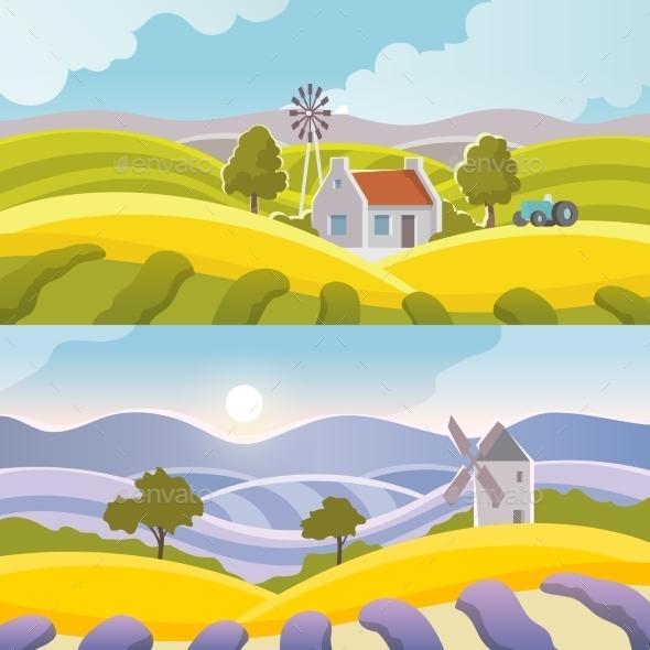 Rural Landscape Banner - Landscapes Nature