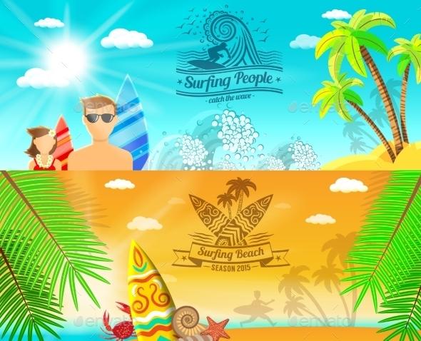Surf Banner Horizontal - Sports/Activity Conceptual