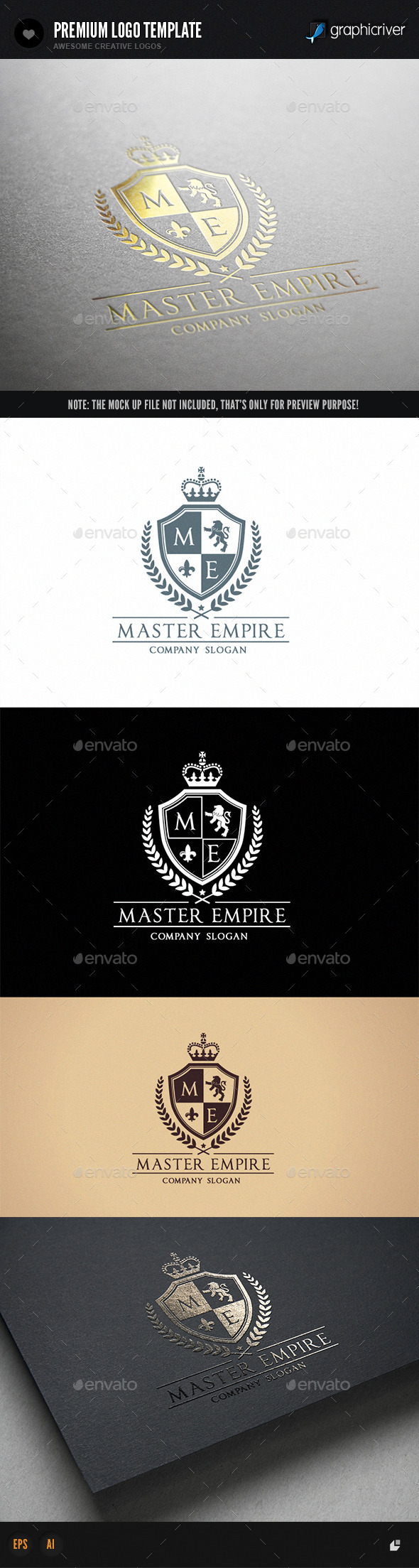 Master Empire  - Crests Logo Templates