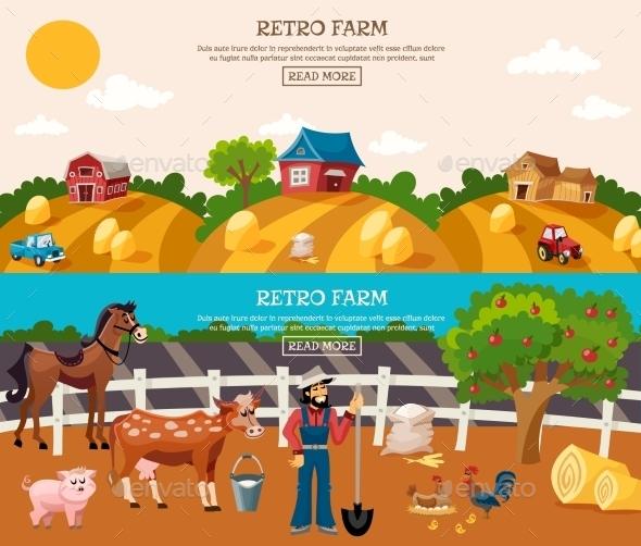 Farm Banner Set - Landscapes Nature