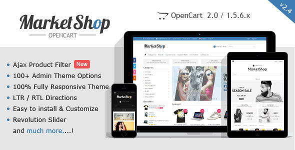 MarketShop – Multi-Purpose OpenCart Theme