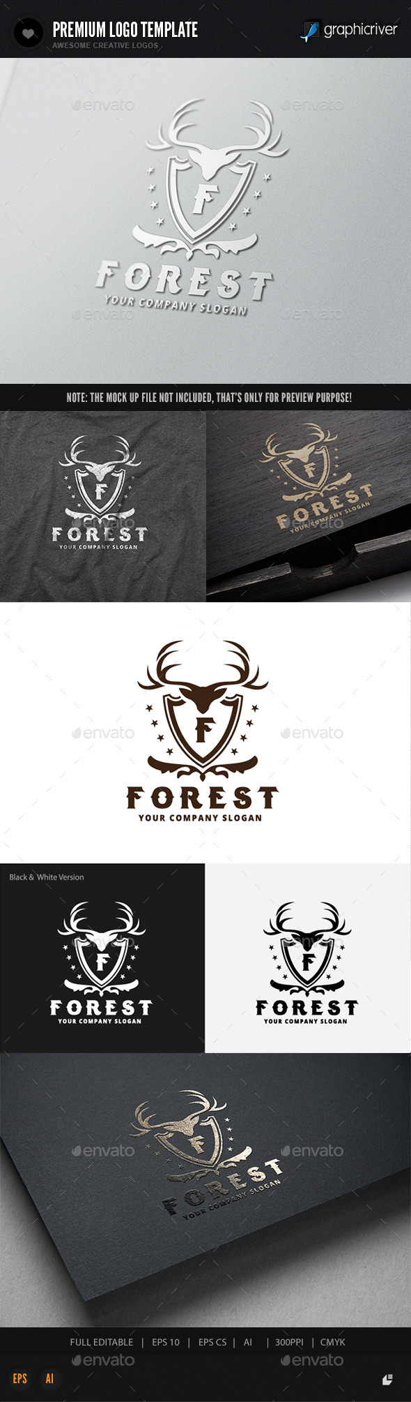 Forest - Crests Logo Templates