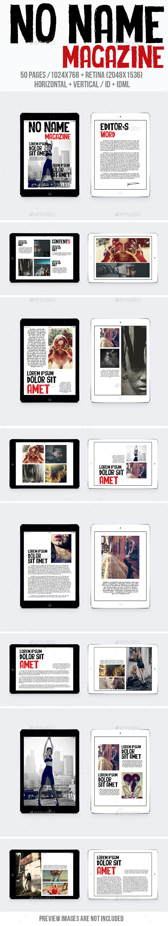 Tablet No Name Magazine - Digital Magazines ePublishing