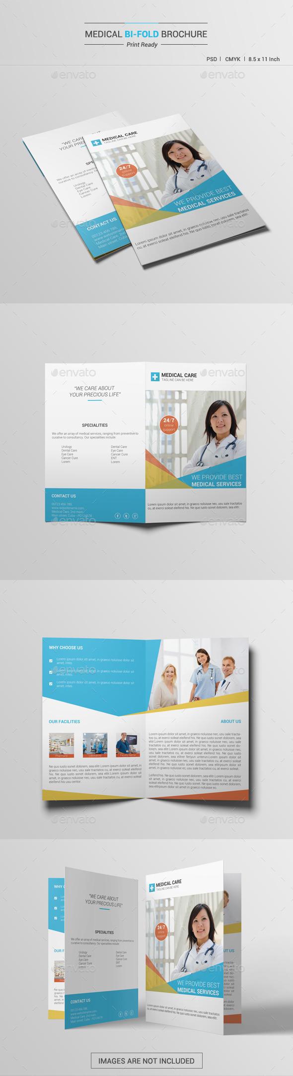 Medical Bi-Fold Brochure V1 - Brochures Print Templates