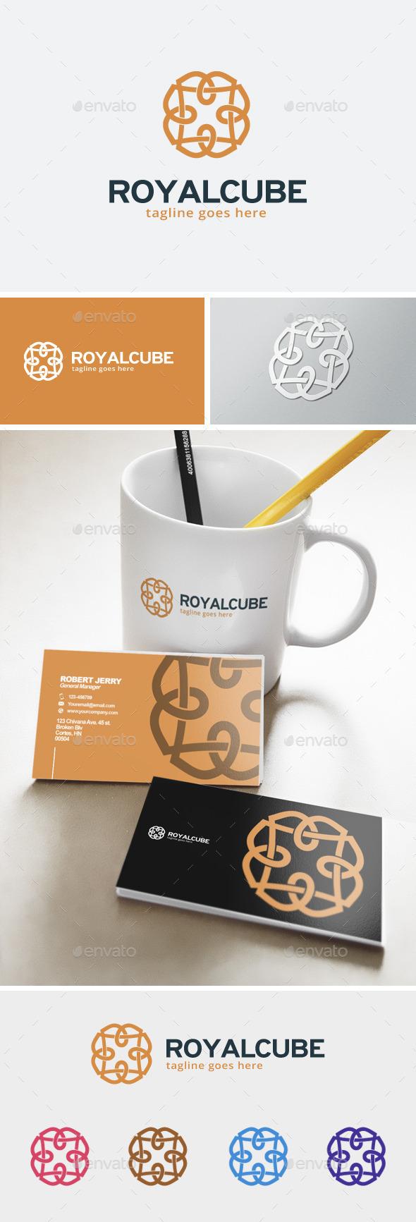 Royal Cube Logo - Abstract Logo Templates