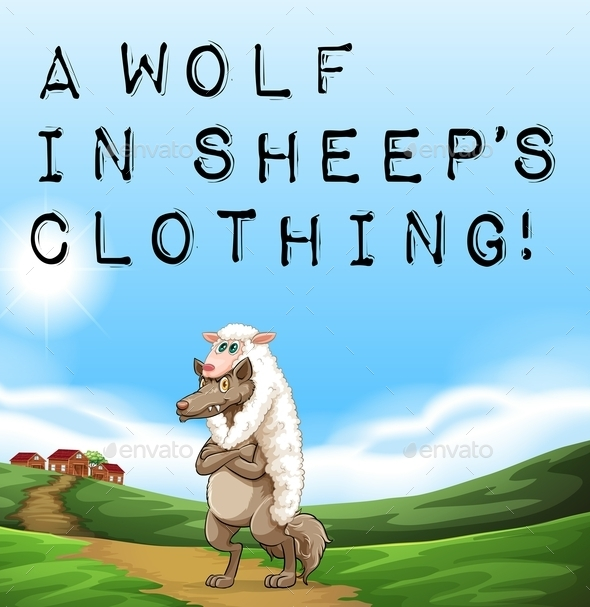 Wolf in Sheep's Clothing - Animals Characters