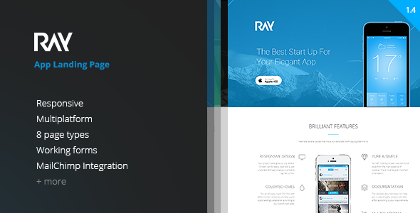 Ray - App Landing Page - Apps Technology