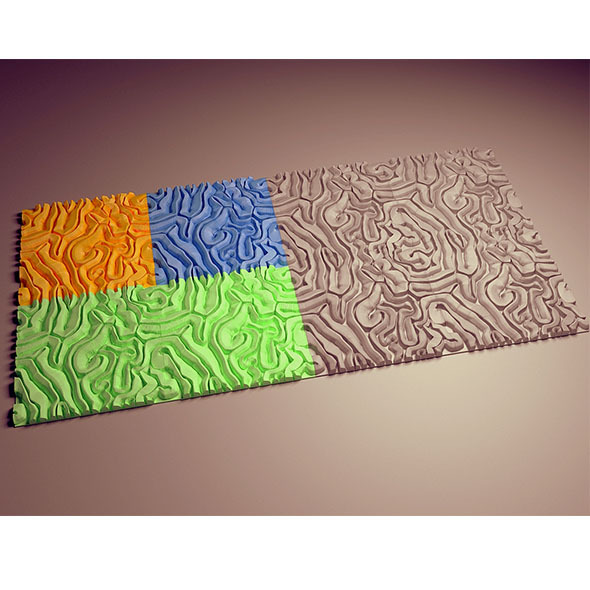 Decorative tiles - 3DOcean Item for Sale