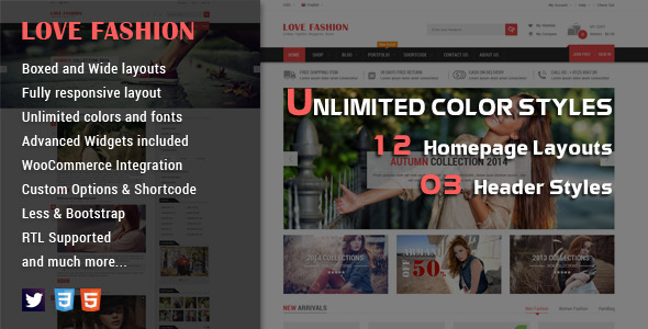 Love Fashion – Responsive WordPress Theme