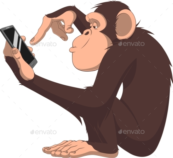 Monkey and Smartphone - Computers Technology