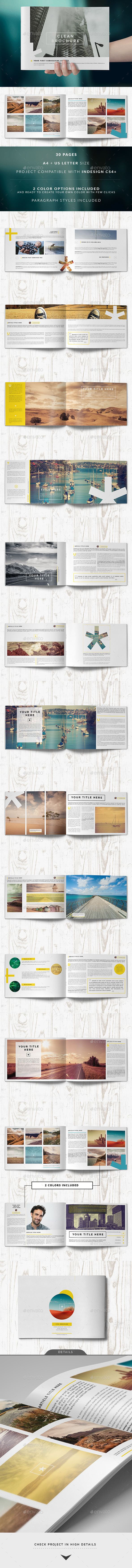 Clean Brochure / Catalog Template - Catalogs Brochures